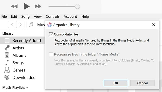 Backup iTunes Library on macOS