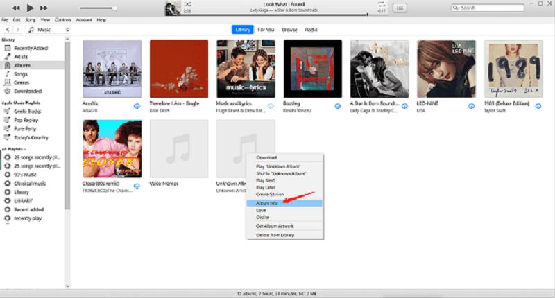 Adding Album Artwork Manually