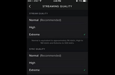 Set Spotify High Quality Streaming on iPhone